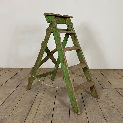 Antique French Original Painted Ladder