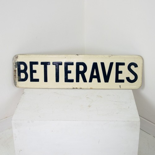 BETTERAVES enamel sign