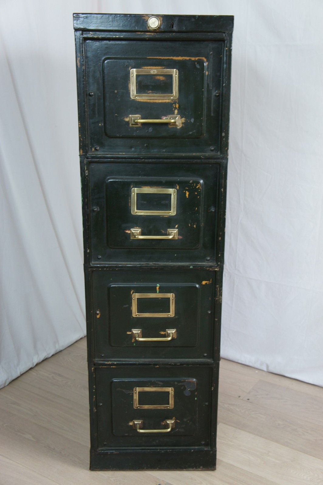 French Metal Factory Drawer Filing Cabinet - The Hoarde
