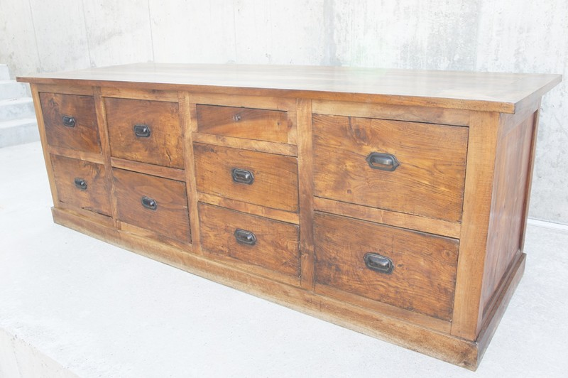 1800's Walnut Shop Counter Sideboard Drawers-vintage-french-Vintage-French-etsy-boho-Walnut-Wood-Shop-Counter-Sideboard-Drawers3-main-636736304922334355.JPG