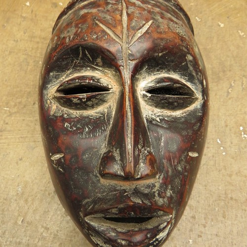 African Tribal Mask with ceremonial scarification