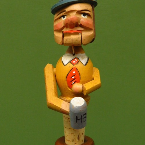 Vintage novelty german man bottle stopper