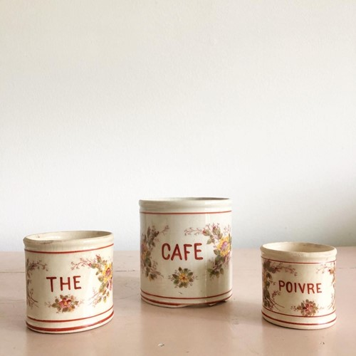 Lovely French Stoneware Jar set