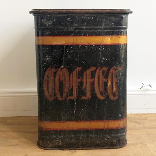 Large Victorian Factory Coffee Bin