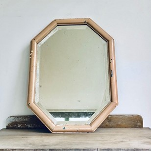 485758d4444c Lightly Foxed Blush Pink Hexagonal Mirror. VINTAGE ...