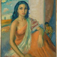 José Lamuno Garcia (1912-?), portrait of a woman