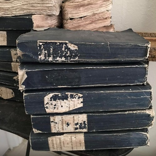Antique French rag  books