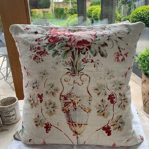 Vintage french floral cushion