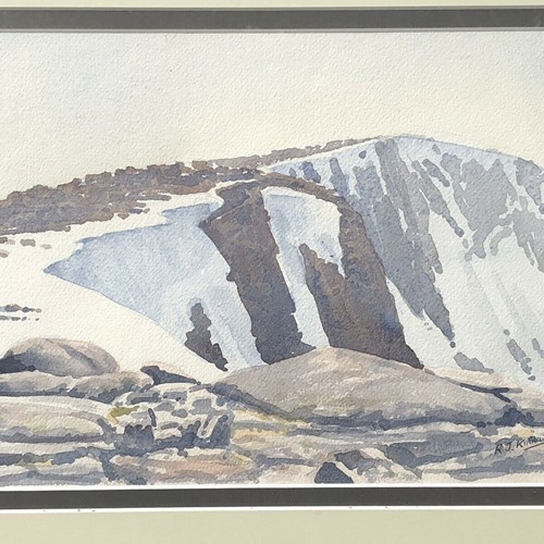Watercolour Painting R.J.kinnaird Cairngorms