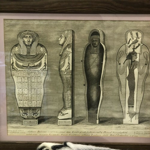 1722 Cooperplate Engraving Of Egyptian Mummies