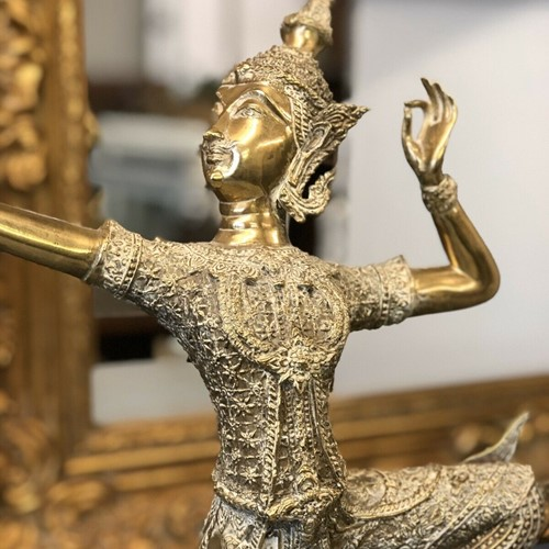 Antique brass figure of Rama