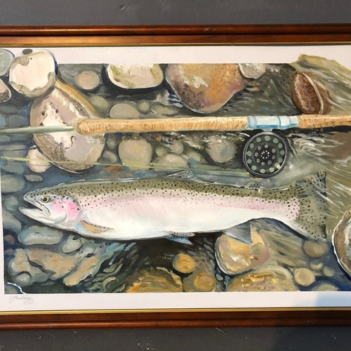 Oil on board 'Study of a Trout'